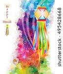 diwali lantern    Shutterstock .eps vector #495428668