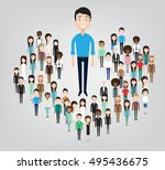 big business man standing in... | Shutterstock .eps vector #495436675
