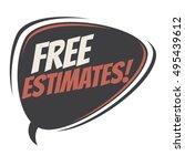 free estimates retro speech... | Shutterstock .eps vector #495439612
