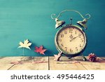 image of autumn time change.... | Shutterstock . vector #495446425