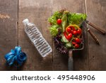 fruits and vegetables  a... | Shutterstock . vector #495448906