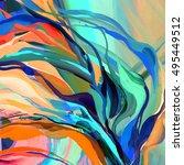 abstract acrylic texture. oil ... | Shutterstock . vector #495449512