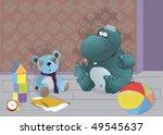 hippopotamus and toys | Shutterstock .eps vector #49545637