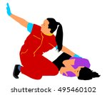 rescue drowning first aid... | Shutterstock .eps vector #495460102