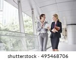 businesswoman corporate... | Shutterstock . vector #495468706