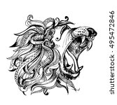 hand drawn illustration of... | Shutterstock . vector #495472846