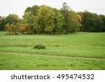 early autumn landscape in park... | Shutterstock . vector #495474532