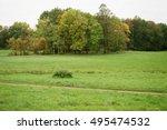 early autumn landscape in park... | Shutterstock . vector #495474532