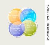 vector infographic template... | Shutterstock .eps vector #495475642
