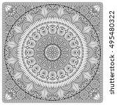flower mandala. vintage...   Shutterstock .eps vector #495480322