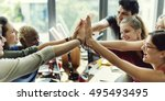 teamwork power successful... | Shutterstock . vector #495493495
