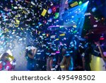 colorful confetti falling to a... | Shutterstock . vector #495498502