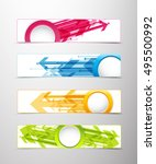 set of four horizontal banners... | Shutterstock .eps vector #495500992