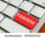 concept of modern keyboard.... | Shutterstock . vector #495505522