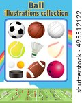ball illustration collection | Shutterstock .eps vector #495512122