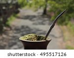 mate  a traditional hot... | Shutterstock . vector #495517126