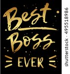 vector greeting card best boss... | Shutterstock .eps vector #495518986