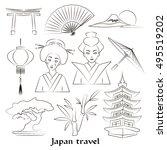 japan icon set.   Shutterstock .eps vector #495519202