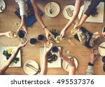 food catering cuisine culinary... | Shutterstock . vector #495537376