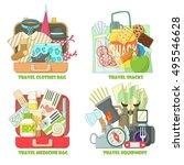 travel concepts set. flat... | Shutterstock .eps vector #495546628