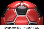 soccer ball. 3d illustration.... | Shutterstock . vector #495547132
