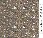 3d metal  seamless plate  | Shutterstock . vector #495553972
