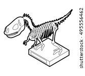 dinosaur skeleton icon in... | Shutterstock .eps vector #495556462