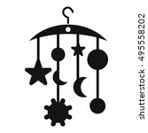 baby bed carousel icon in... | Shutterstock .eps vector #495558202