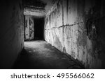 Empty Abandoned Bunker Interior ...
