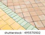 brick sidewalks background | Shutterstock . vector #495570502