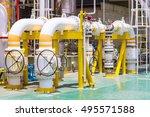 manual operate ball valve at...   Shutterstock . vector #495571588
