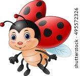 cartoon funny ladybug | Shutterstock .eps vector #495572326