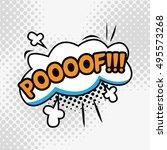 comic text  pop art style.poof. | Shutterstock .eps vector #495573268