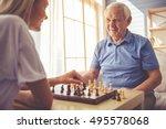 beautiful young girl volunteer... | Shutterstock . vector #495578068