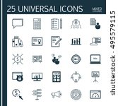 set of 25 universal icons on... | Shutterstock .eps vector #495579115