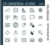 set of 25 universal icons on... | Shutterstock .eps vector #495580768