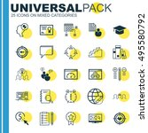 set of 25 universal icons on... | Shutterstock .eps vector #495580792