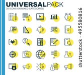 set of 25 universal icons on... | Shutterstock .eps vector #495580816
