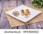 arabic desserts    Shutterstock . vector #495584002