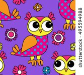 vector seamless pattern with... | Shutterstock .eps vector #495594988