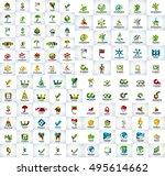 abstract logo mega collection ... | Shutterstock .eps vector #495614662