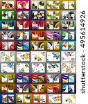 mega collection of business... | Shutterstock .eps vector #495614926