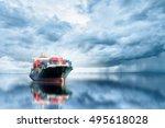 logistics and transportation of ...   Shutterstock . vector #495618028