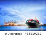 logistics and transportation of ... | Shutterstock . vector #495619282