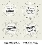 collection of holiday... | Shutterstock .eps vector #495621406