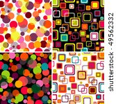 Four Seamless Patterns Colorfu...