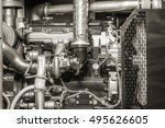 industrial diesel power... | Shutterstock . vector #495626605