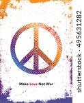 make love not war   hippie... | Shutterstock . vector #495631282