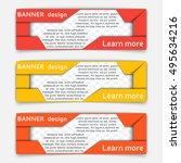 web banner design. set of... | Shutterstock .eps vector #495634216