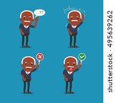 african american people  old... | Shutterstock .eps vector #495639262